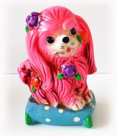 Fantastic Rare Vintage Kitsch Arnart Japan number 7091 Near Emerald Teal Mint Green Squirrel Family Trio Set Mama and from modpets on Etsy. Kitsch, Shih Tzu, Pink Purple, Hot Pink, Terrier, Gifts For Photographers, Pink Dog, Japan, Vintage Pink