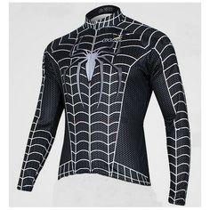 Cycling Clothes Cycling Clothes 2013 Black Venom cycling long jersey-Spiderman