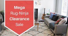 #Blog- Mega Rug-Ninja Clearance Sale! #Rugs #AreaRugs #RugsSale