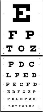This is a photo of Crush Free Printable Kindergarten Eye Chart
