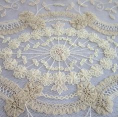 Brussels Lace | Vintage Brussels lace | linens and lace