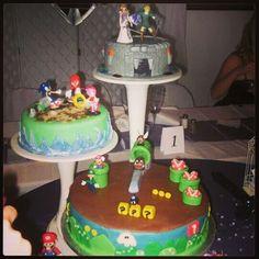 My Zelda, Sonic & Mario wedding cake is epic. ♥♥♥@Nintendo #nintendo #zelda #epicweddingcake