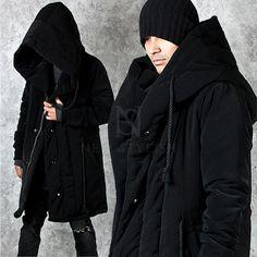 Big wide hood accent black cozy parka - 24