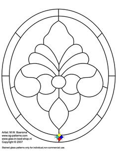 ★ Stained Glass Patterns for FREE ★ glass pattern 061 ★