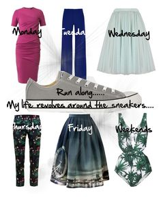 """""""Run along....with sneakers 7 days a week"""" by chong-yanting on Polyvore"""