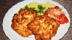Strapaté kuracie rezne Cauliflower, Lunch, Meat, Chicken, Vegetables, Cauliflowers, Eat Lunch, Vegetable Recipes, Cucumber