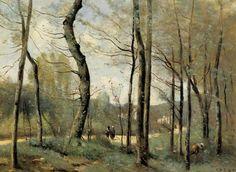 Jean-Baptiste-Camille Corot (Jean Baptiste Camille Corot): First Leaves, near Nantes BUY PRINTS