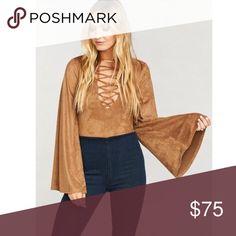 ec4d8cb0ef9b Shop Women s Show Me Your MuMu Brown size S Tops at a discounted price at  Poshmark. Description  Show me your mumu Louisiana lace up bodysuit.