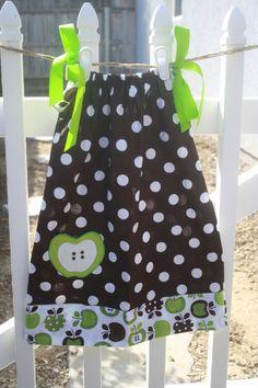 Brown Polka Dot Apple Dress