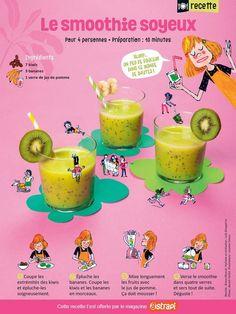 Recette vitaminée: lesmoothie soyeux - Astrapi Milk Shakes, Easy Cooking, Cooking Food, No Cook Meals, Detox, Pudding, Fruit, Desserts, Sauces
