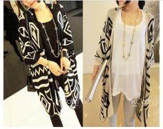KCLOTH Knit Blazer With Zigzag Pattern K1308 #KCloth
