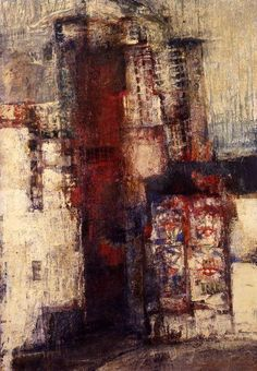 """Renzo Vespignani, """"Periferia"""", 1959,  olio su tela."""