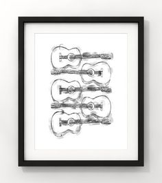 Downloadable Art Sketch Painting Home Decor Guitar by fileclerk Modern Art, Contemporary Art, Sketch Painting, Minimalist Art, Art Sketches, Guitar, Unique Jewelry, Handmade Gifts, Etsy