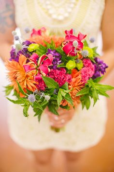bright bouquet scented with mint and garden flowers