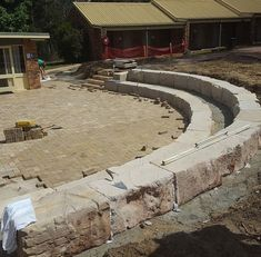 Aussietecture natural stone supplier has a unique range natural stone products for walling, flooring & landscaping. Sandstone Cladding, Natural Stone Cladding, Sandstone Paving, Sandstone Fireplace, Stone Retaining Wall, Stone Blocks, Landscaping Retaining Walls, Stone Supplier, Farmhouse Garden