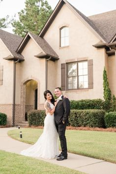 Completely DIY backyard wedding in Alabama. The couple got married in their new home with lots of personal details. Wedding Suits, Our Wedding, Budget Wedding, Wedding Planning, Navy Flowers, Couple Shots, Wedding Crafts, Couples In Love, Got Married