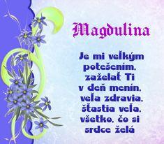Magdulina - prianie k meninám