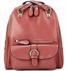 light pink candy backpack soft genuine leather backpack by starbag, $56.93