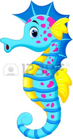 Illustration about Illustration of Cute Seahorse Cartoon. Illustration of drawing, marine, picture - 32326964 Seahorse Cartoon, Cartoon Sea Animals, Seahorse Art, Cartoon Fish, Seahorses, Cartoon Drawings, Animal Drawings, Cute Drawings, Diy And Crafts