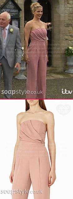 Found: Carly's Bridesmaid Jumpsuit in Emmerdale. [✚Click photo for info]