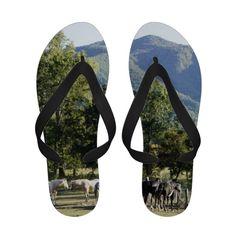 Wild Horses Flip Flops