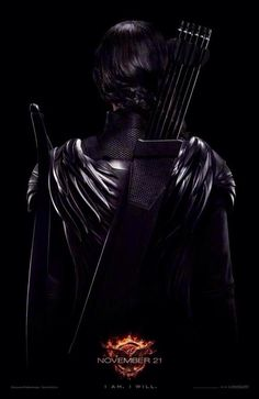 NEW MOCKINGJAY POSTER OF KATNISS. IVE NEVER BEEN SO EXCITED TO SEE SOMEONE'S BACK.