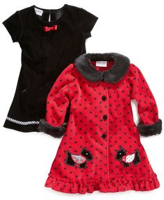 Blueberi Boulevard Baby Set, Baby Girls 2-Piece Dress and Coat - Kids Baby Girl (0-24 months) - Macy's