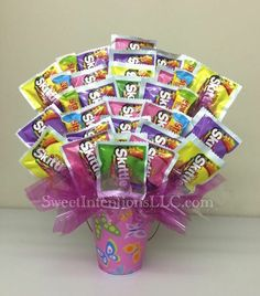 Springtime Candy Bouquet, Mother's Day Candy Bouquet, Birthday Party Candy Bouquet Centerpiece by Sweet Intentions, LLC  https://www.facebook.com/SweetIntentionsLLC/
