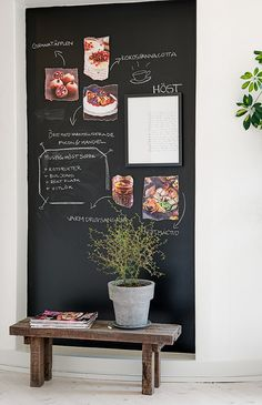 My ideal home is your daily source of interior design, architecture, home ideas and interior inspirations. Blackboard Wall, Chalkboard Art, Kitchen Chalkboard, Cocina Diy, My Ideal Home, Chalk It Up, Minimalist Kitchen, Modern Minimalist, Blackboards