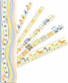Itsy Bitsy Baby Boy Die Cut Borders with Glitter detailing 28pk from K & Company Glittered .. all these Borders are adhesive for effortless creativity