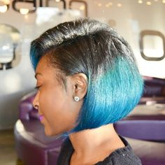 A Touch Of Blue - http://www.blackhairinformation.com/community/hairstyle-gallery/relaxed-hairstyles/touch-blue/ #relaxedhairstyles