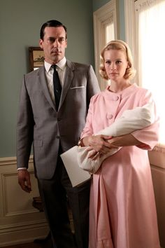 "Mad Men Season 3 Episode 2 ""Love Among the Ruins"" Betty and Don."