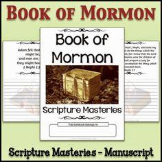 LDS Notebooking: Book of Mormon Scripture Mastery Copywork - Manuscript