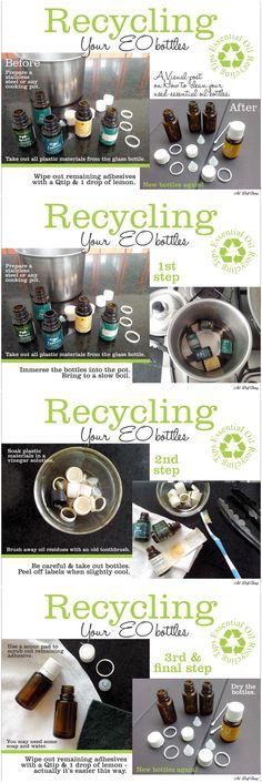 reusing EO bottles