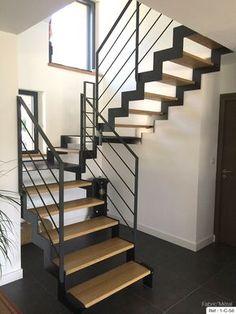 Fabrication escalier metal bois, escalier moderne en Bretagne Morbihan   Fabric Metal.