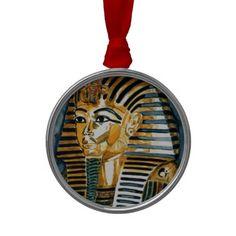 #Pharao001 #KingTut #Christmas Tree Ornaments #JAMFotoWorms #Zazzle.com