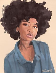Black Women Art! – katiprescott: Selfie 2, keeping it loose. With...