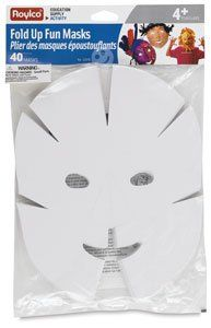 Roylco Fold Up Fun Masks Class Pack - Roylco Fold Up Fun Masks Class Pack by Roylco. $7.74. These three-dimensional masks are easy and fun to make. Simply fold in and tape the pleats, then decorate with crayons, markers, paints, tissue paper, feathers, and more. Thread craft stems through the holes on the sides of the masks to hold them in place around the ears.