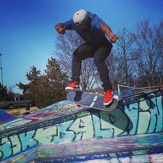 Loving this image of #NormanOK's #SkatePark  How's everyone else enjoying the warmer weather this week? : @b.moore___