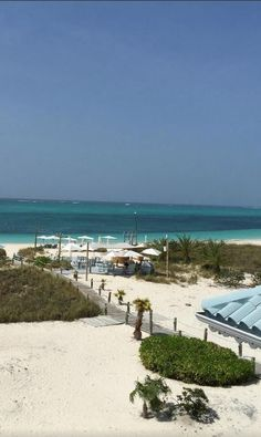 The view from 'Elated Beach House resort, Turks & Caicos