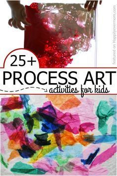 "Super FUN art activities for kids that are all about letting kids explore art ~ there's no ""right"" way or ""wrong"" way to do these..."
