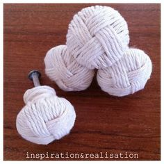 inspiration and realisation: DIY fashion blog: DIY knotted knobs. Going to do these with jute.