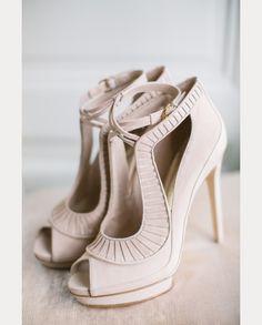 beautiful neutral wedding shoes  ~  we ❤ this! moncheribridals.com