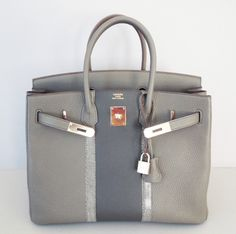 Hermes Bi-color SO Horseshoe Etain and Gris Tourterelle Togo ...