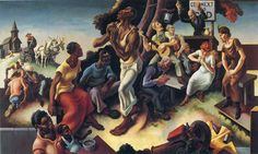 Thomas Hart Benton, The Arts of the South, from the mural The Arts of Life in America (1932)