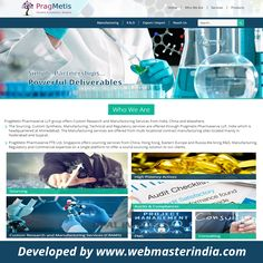 Opal Infotech has launched a responsive website – www.pragmetis.com  on WordPress platform for PragMetis Pharmaserve LLP group. The Company offers Sourcing, Custom Synthesis, Manufacturing, Technical and Regulatory services from India, #China and elsewhere. To find more WordPress Web Designs visit http://www.webmasterindia.com/wordpress-web-design/ or E-mail on biz@webmasterindia.com for more details.  #OpalInfotech #ResponsiveWordpress #ResponsiveWordpressWebsite #WebDevelopment