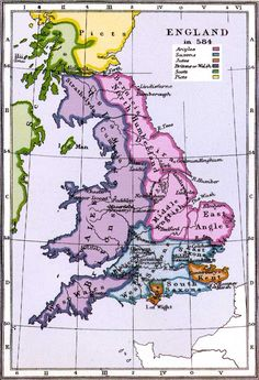 The Fall of Roman Britain and the myth of the Anglo-Saxon Conquest History Of England, Uk History, Asian History, British History, Tudor History, History Facts, Family History, Map Of Britain, Roman Britain