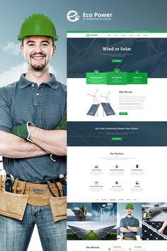 EcoPower - Alternative Power & Solar Energy WordPress Theme Big Screenshot