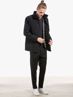 Jacket with detachable West by Norse Projects Longsleeve by Our Legacy Pants by ATF Clothing