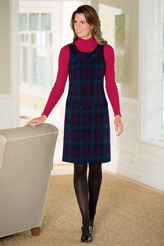Dropwaist Sheath Dress - Plaid Jumper - JG Hook | Chadwicks of Boston
